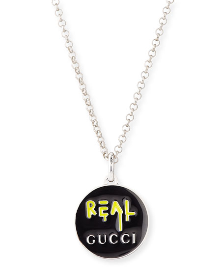 "GucciGhost Men's Sterling Silver ""Real"" Necklace"