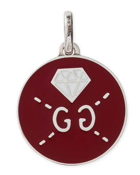 GucciGhost Sterling Silver & Enamel Diamond Charm