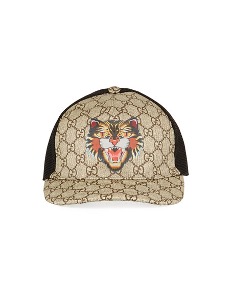 c5ee6c14 Gucci Angry Cat GG Supreme Baseball Cap
