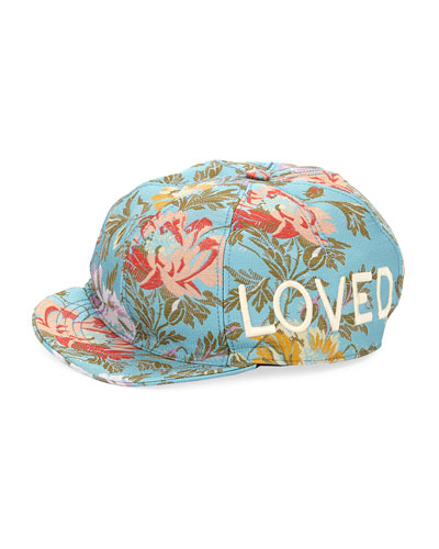 Loved Floral Jacquard Baseball Cap