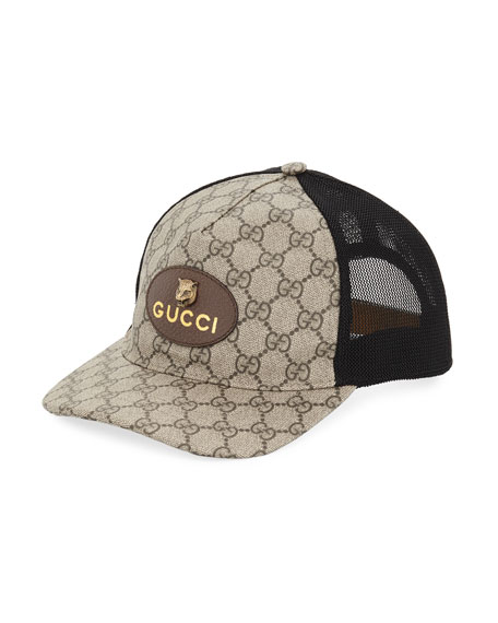 GG Supreme Baseball Cap with Feline Head