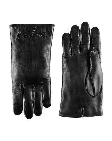 Blind for Love Embossed Nappa Lambskin Gloves