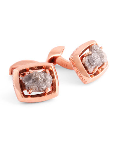Limited Edition Signature Rough Diamond Cuff Links