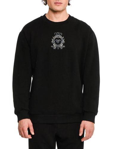 Bee & Crown Embroidered Sweatshirt, Black