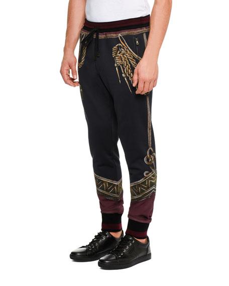 Military Trompe l'Oeil Sweatpants, Black