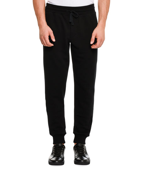 Bee & Crown Embroidered Sweatpants, Black
