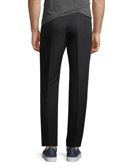 Stretch-Cotton Chinos w/ Racing Stripes