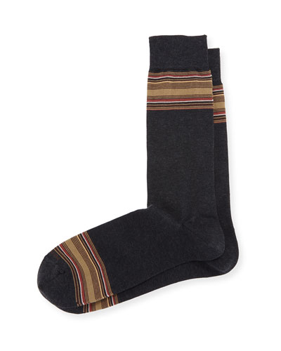 Limited Edition Cigar Box Crew Socks, Gray