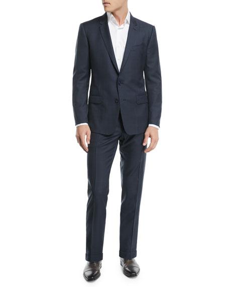 Glen Plaid Wool Two-Piece Suit