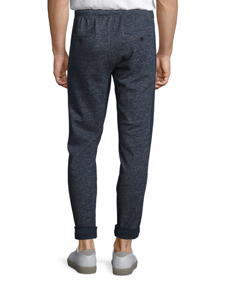 Brushed-Back Terry Sweatpants, Navy