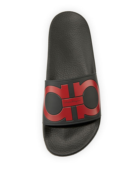 Gancini Slide Sandal