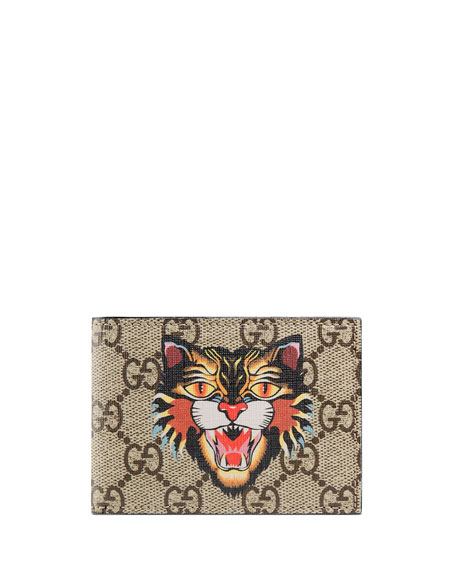 Gucci Angry Cat GG Supreme Wallet