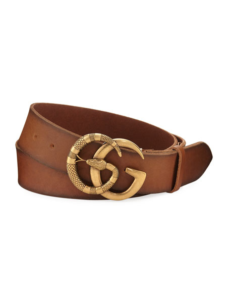 Gucci Cuoio Toscano Snake GG Belt