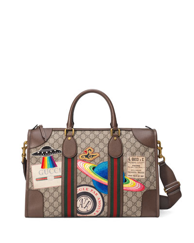 Gucci Courier Soft GG Supreme Duffel Bag