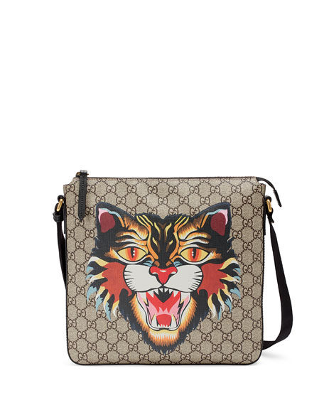 ffa31c3a45fd Gucci Angry Cat GG Supreme Messenger Bag
