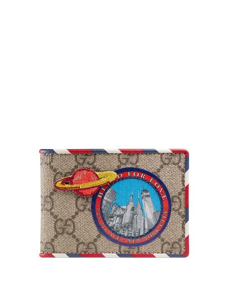 Gucci Courier GG Supreme Wallet