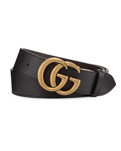 Reversible Leather Double G Belt