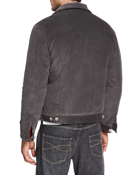 Quilted Corduroy Jean Jacket