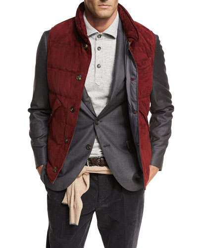 Quilted Suede Vest