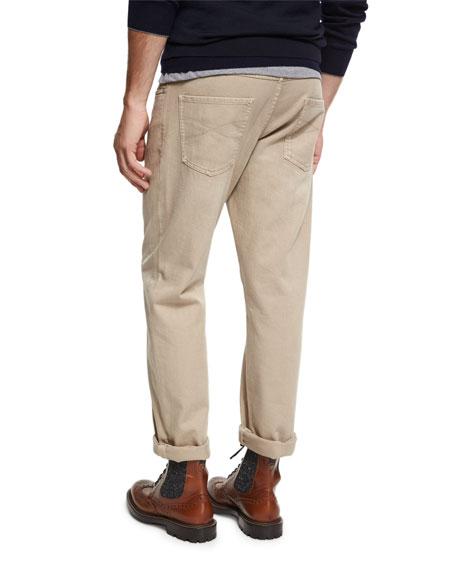 Cotton Five-Pocket Pants