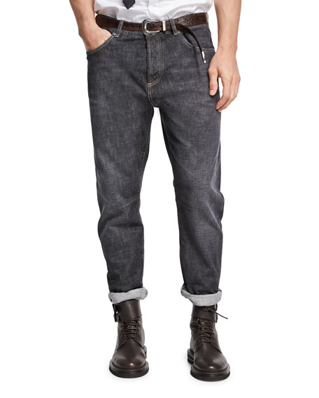 Selvedge Denim Leisure-Fit Jeans