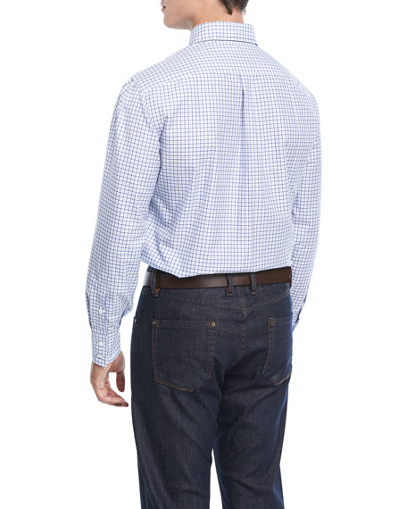 Double-Checked Cotton Sport Shirt