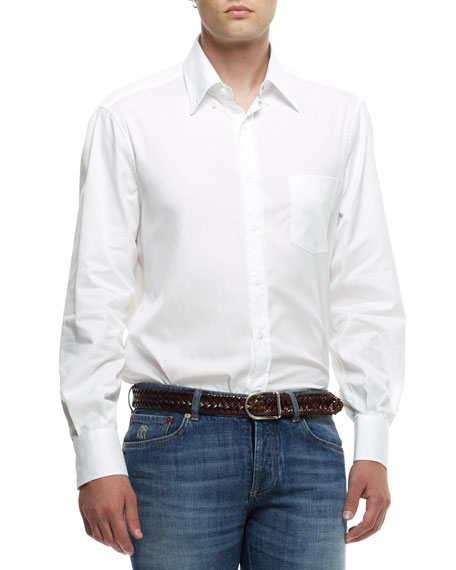 Button-Down Shirt, White