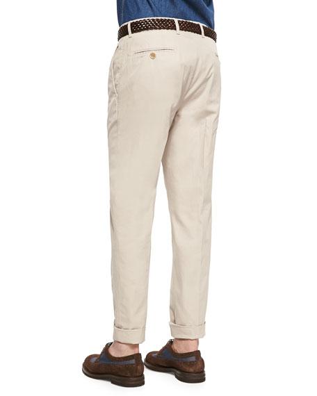 Lightweight Flat-Front Pants, Stone