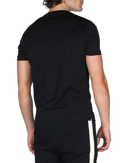 Monster Eyes Crewneck T-Shirt, Black