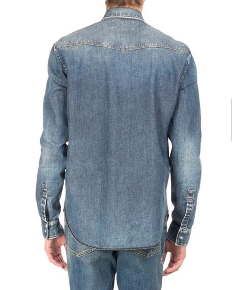 Denim Western Shirt, Blue