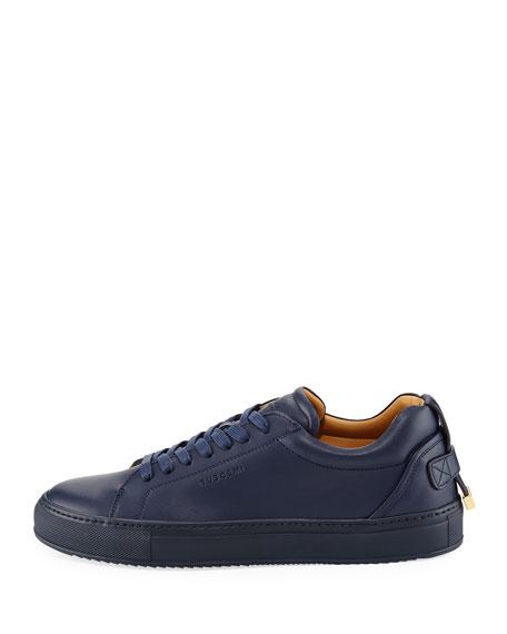 Lyndon Leather Low-Top Sneaker, Navy