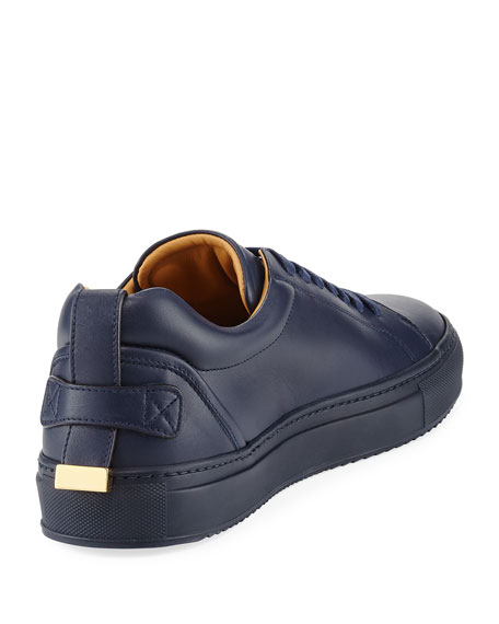 Men's Lyndon Leather Low-Top Sneakers, Navy