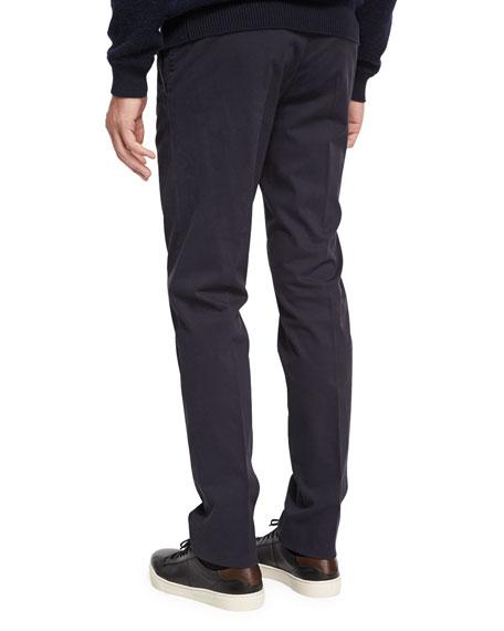 Flat-Front Garment-Wash Pants