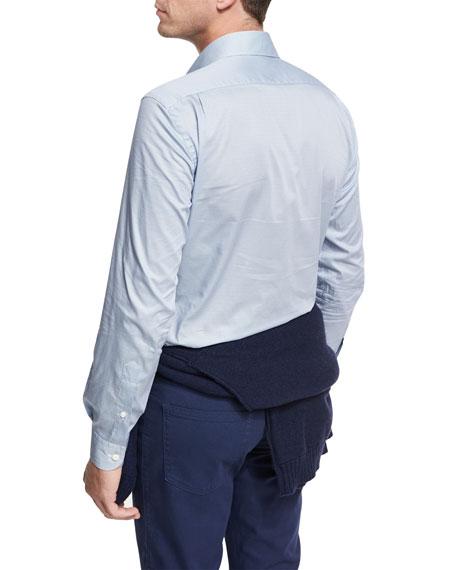 Zigzag Box-Print Cotton Shirt