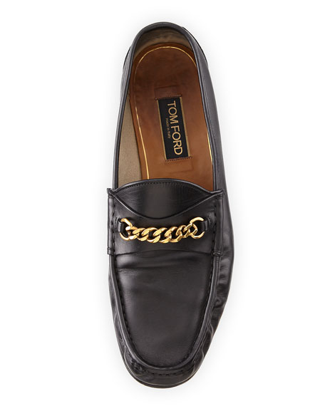 6020b2f8f53 TOM FORD Leather York Chain Loafer