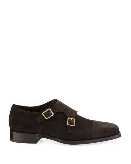Wessex Suede Double-Monk Shoe