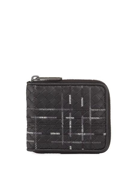 Metropolis Intrecciato Leather Zip Wallet