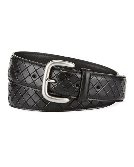 Bottega Veneta Scolpito Scored Leather Belt