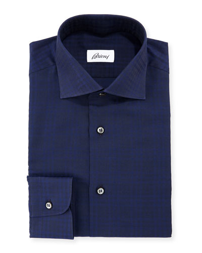 Tonal Check Dress Shirt