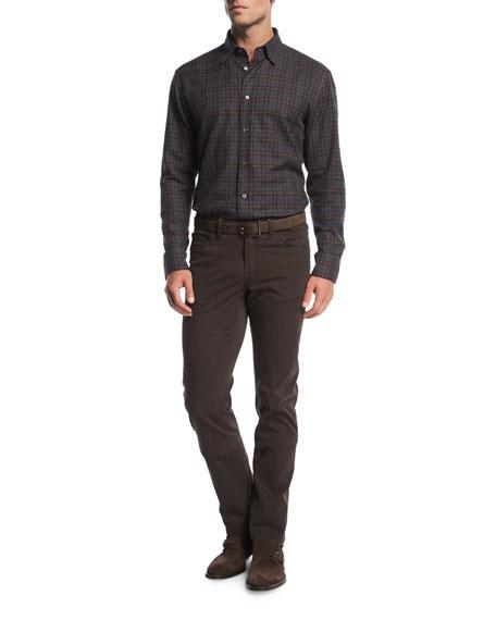 Stretch-Cotton Straight-Leg Pants