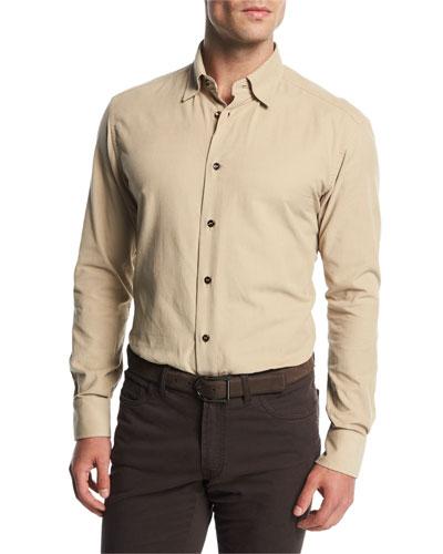 Corduroy Sport Shirt, Tan