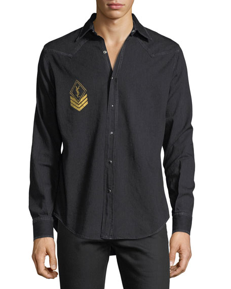 Milittary Monogram Denim Shirt