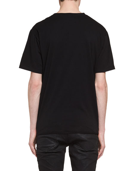 Oversized Bouche Saint Laurent Cotton T-Shirt, Black