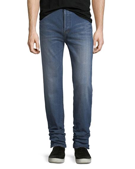 Slim Dirty Dark Vintage-Wash Jeans