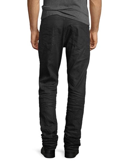 Coated Denim Skinny Jeans