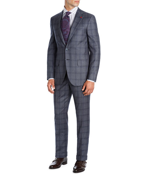 Shadow Plaid Super 130s Wool Two-Piece Suit