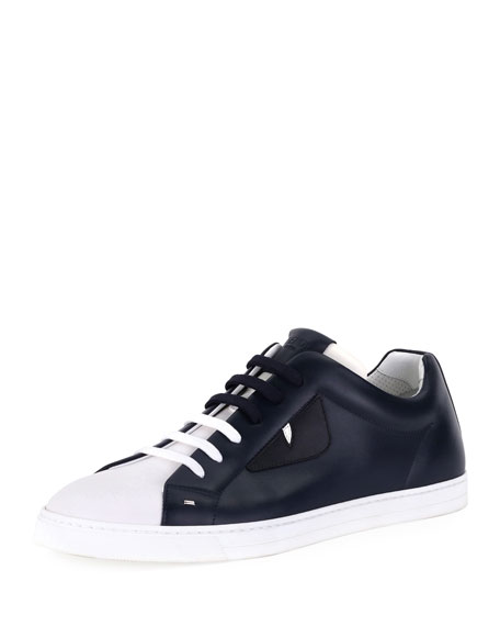 Fendi Monster Leather Low-Top Sneaker