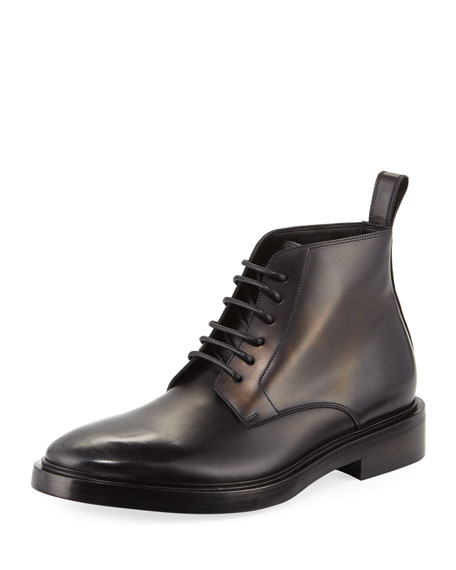 Veau Leather Lace-Up Boot