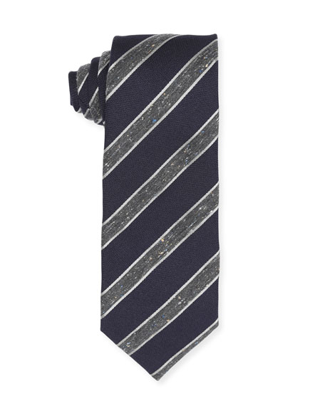 Striped Wool/Silk/Cotton Tie
