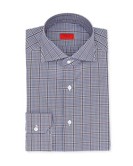 Overcheck Cotton Dress Shirt